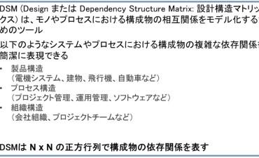 DSM 設計構造マトリックス(その1) 概要